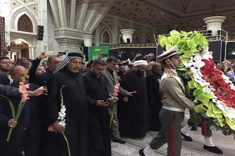 ادای احترام موکب داران عراقی به مقام شامخ بنیانگذار جمهوری اسلامی ایران